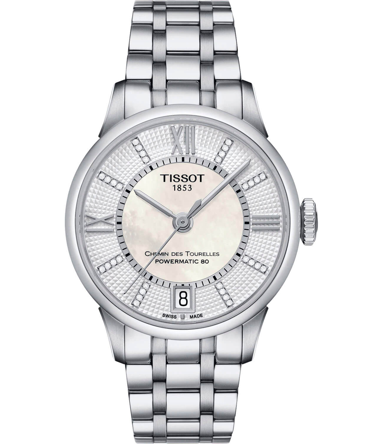 Часы Tissot Chemin Des Tourelles Powermatic 80 Lady T099.207.11.116.00